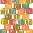 Wooden Blocks Alphabet — Stock Photo