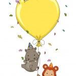 Birthday Safari Balloon — Stock Photo