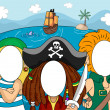 Постер, плакат: Photobooth Pirate Faces
