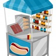 Stock Photo: Food Cart Hotdog