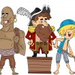 Stock Photo: Pirate Crew Cleaning