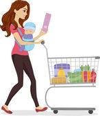 Grocery Mom — Stock Photo