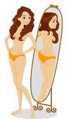 Body Image Girl — Stock Photo