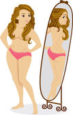 Body Image Girl — Stock Photo