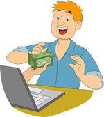 Online Writing Job — Stock Photo