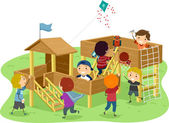 Stickman Boys Playhouse — Stock Photo
