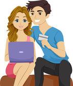 Couple Online Shopping — Stock Photo