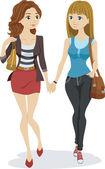 Teenage Lesbian Couple — Stock Photo