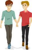 十代の同性愛者のカップル — ストック写真