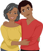 Mom and Son Picture — Stock Photo