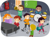 Kids Music Room — Stock Photo