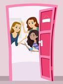 Teen Girls Welcome Party — ストック写真