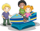 Motorboat Toy Ride — Stock Photo
