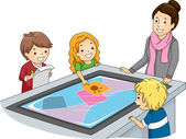 Interactive Surface Table — Stock Photo