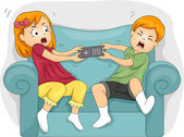 Sibling Fight — Stock Photo
