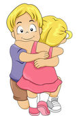 Sibling Hug — Stock Photo