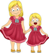 Same Shirt Siblings — Stock Photo