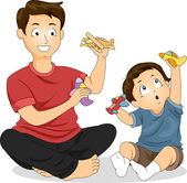 Father and Son Play Time — Stock Photo