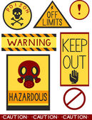 Warning Labels — Stock Photo