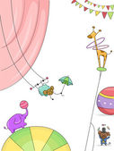 Circus Animals Background — Stock Photo