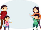 Stickman Family Banner — Stock Photo