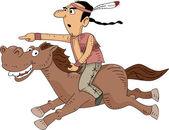 Indianische Reiten — Stockfoto