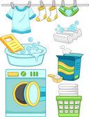 Laundry Elements — Stock Photo