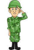 Soldier Salute — Stock Photo