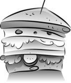 Black and White Sandwich — Stock Photo