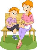 Mãe de primeiros socorros — Fotografia Stock