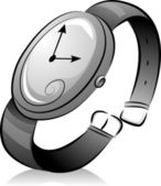 Montre-bracelet noir et blanc — Photo