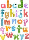 Alphabet Mascots — Stock Photo