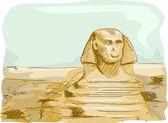 Sfenks Mısır — Stok fotoğraf