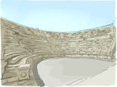 Jerash Ampitheater — Stock Photo