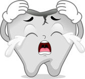 Cracked Tooth Mascot — Stock Photo