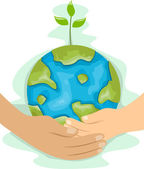 Teaching Kids Environmental Protection — Foto de Stock
