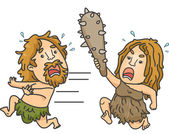 Caveman Fight — Stock Photo