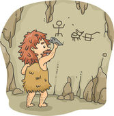 Caveman Art — Stock Photo