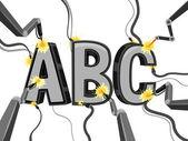 Mechanische alfabet — Stockfoto