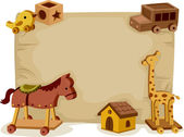 Wooden Toys Background — Stock Photo
