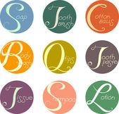 Bath Labels — Stock Photo