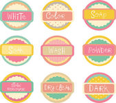 Laundry Labels — Stock Photo