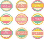 Laundry Labels — Foto Stock