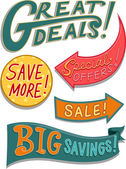 Sale Design Elements — Stock Photo