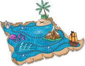 Treasure Map — Stock Photo