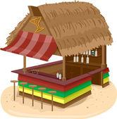 Beach Hut Bar — Stock Photo