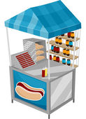 Food Cart Hotdog — Stock Photo