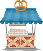 Pretzel Food Cart — Stock Photo