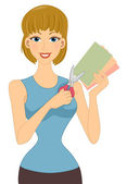 Paper Crafts Girl — Stock Photo
