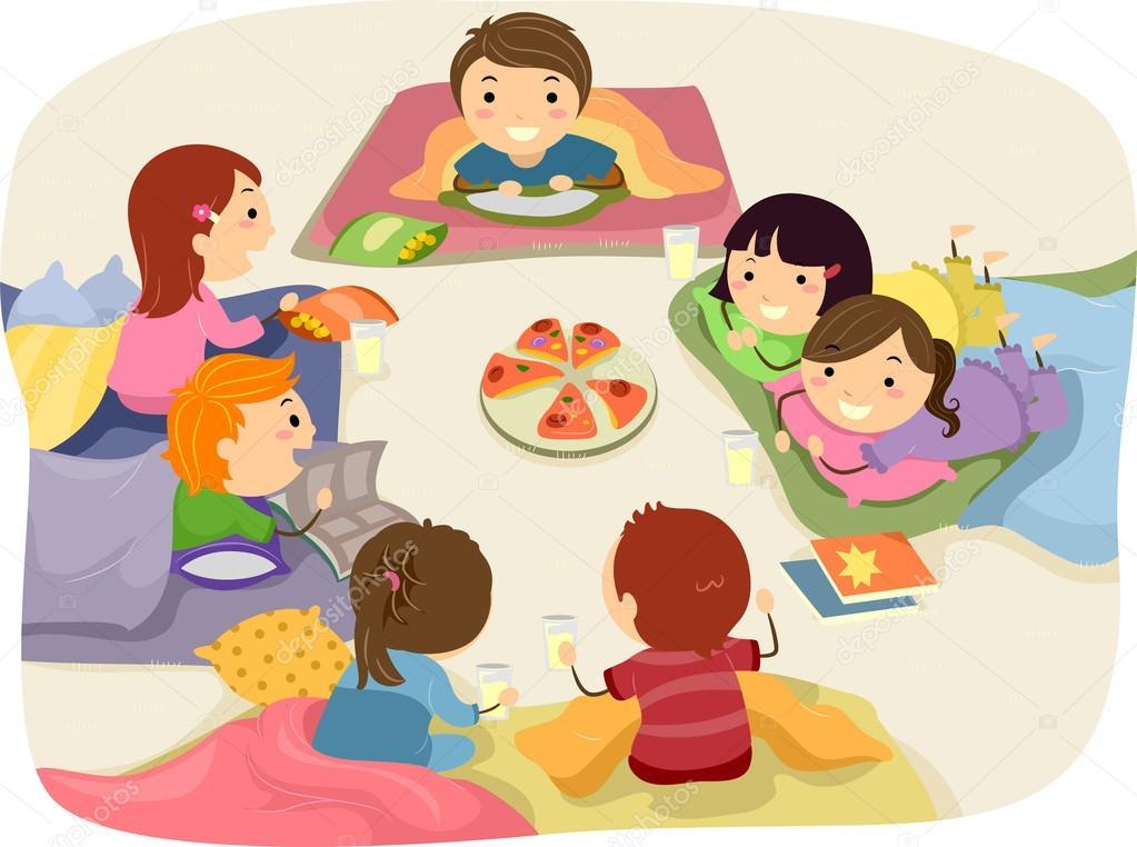 Pigiama party foto stock lenmdp 39462007 - Table a dessin enfant ...
